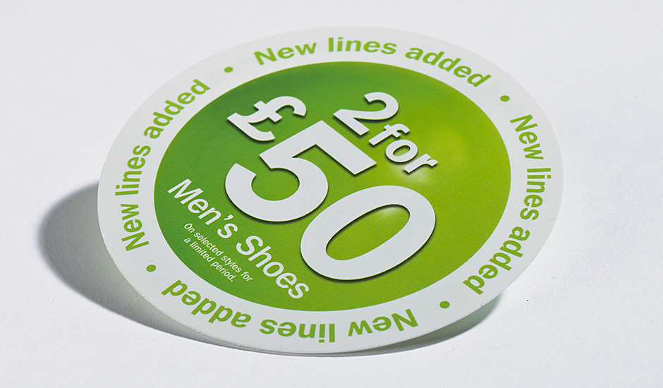 Uv litho on plastics self adhesive sticker