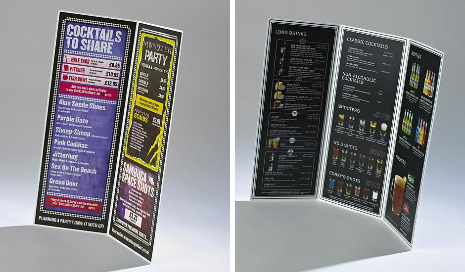Printing UV litho on plastics menus