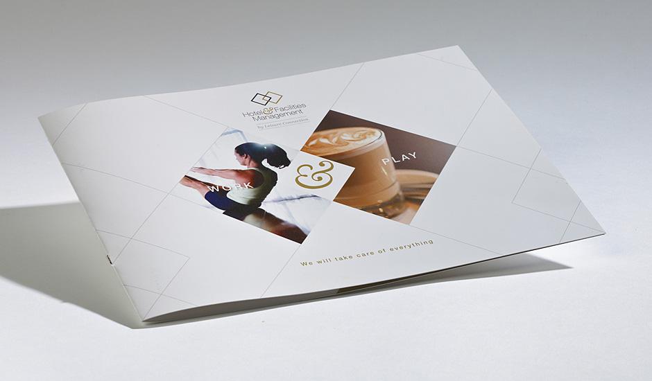 Digitally printed brochure