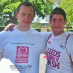 (L-R) Darren Holmes with his training buddy Adam Corcoran